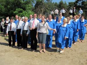 Пасторы и крещаемые с Еленой Бутовой