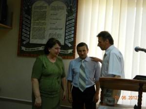 А.М.Суров с супругой и Секретарь ВДК Господарец А.А.