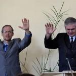 Пасторы Евгений Ващинин и Михаил Микитюк