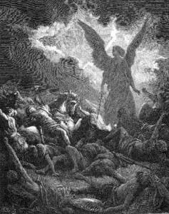 Ангел Божий поражает ассирийское войско