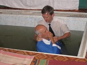 Во время крещения