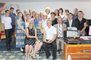 Фото с членами церкви