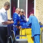Крещение инвалида колясочника