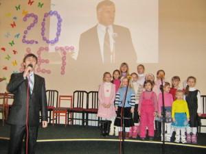Выступление детей на юбилейном служении