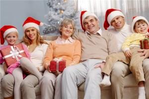 Встреча нового года современной семьей