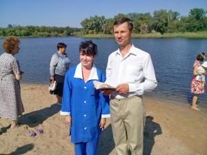Ирина Демьянок и пастор Владимир Ярош