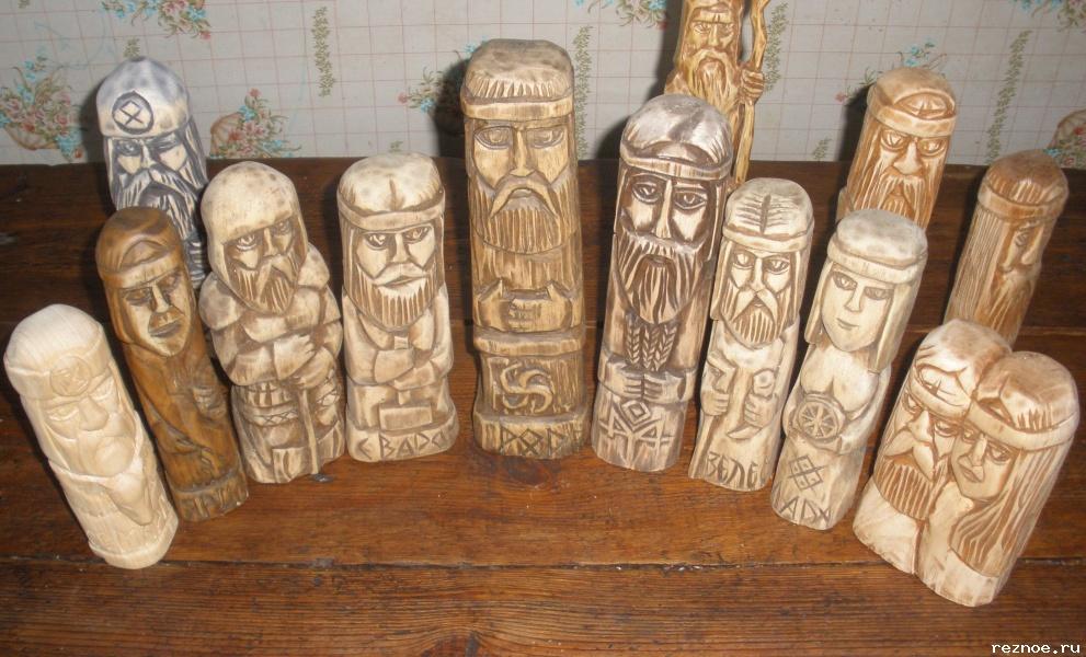 Идолы из дерева своими руками
