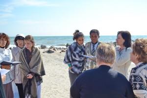 На берегу перед крещением