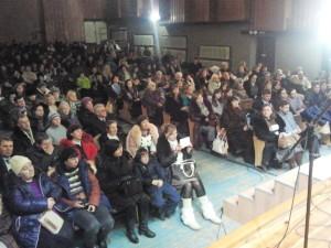 Полный зал слушателей