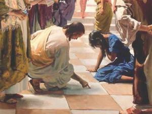 Иисус и женщина, взятая в прелюбодеянии