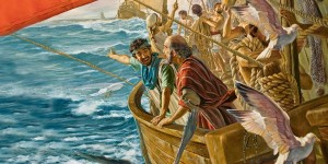 Павел на корабле