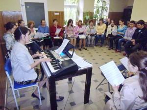 Репетиция хора