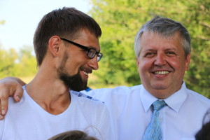 Пастор Вадим Литвинюк очень рад