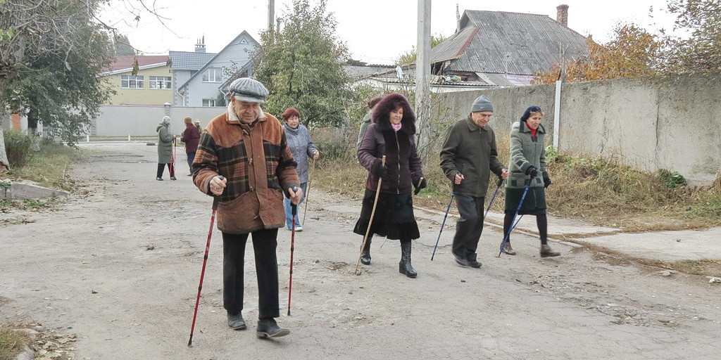 Скандинавская ходьба на улицах Днепропетровска