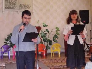 Ьложественное служение в Мелитопольской церкви