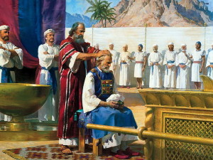 Моисей посвящает Аарона