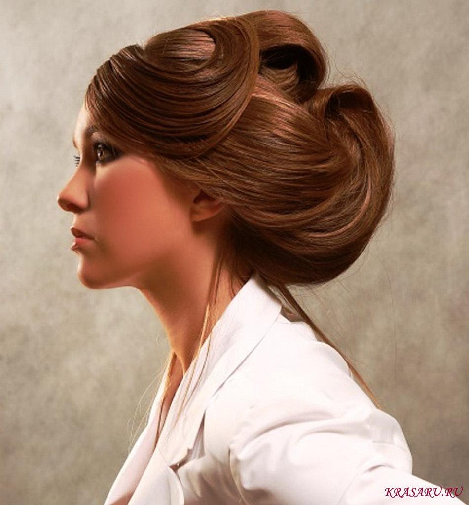 прически делового стиля на длинные волосы фото