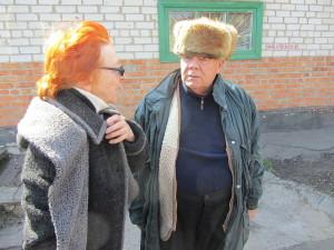 Людмила Кривонос с руководством интерната