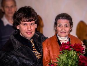 Константин Захаров с мамой