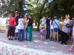 Детская площадка во время программы