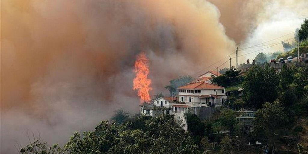 На этой неделе Пожары прокатились по всему португальскому острову Мадейра. (EUD)