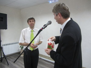 Слова благодарности пресвитеру Виктору Федирко за труд по ремонту церкви