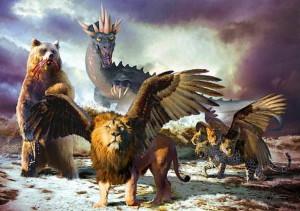 4 зверя из книги Даниила