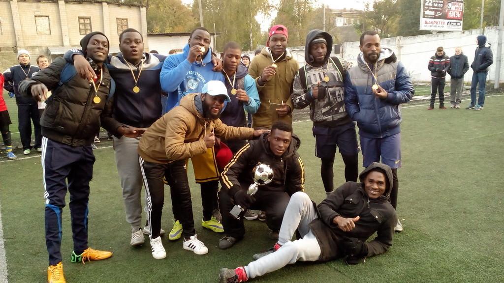 Команда ангольцев - победители турнира