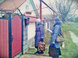 Беседа с жителями Грушевки