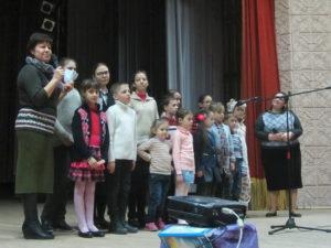Выступление детей, посещавших программу