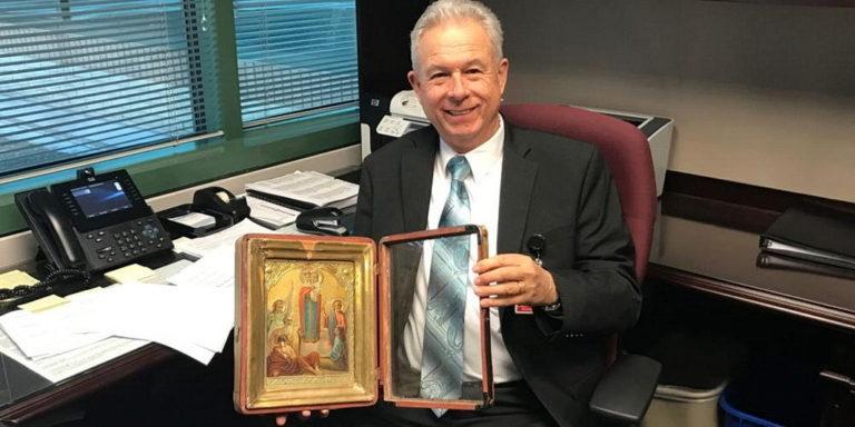 Православная икона отправилась из Украины в главный офис всемирной адвентистской церкви