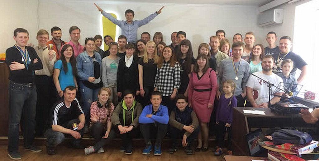 Молодежное учебное мероприятие «Восклицательный знак» состоялось в конце апреля в Восточной Украине. [Фото: Александр Ткаченко]