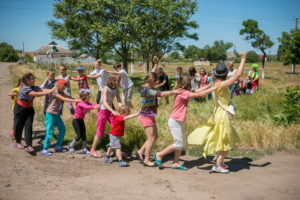 Детский праздник в селе Заречном