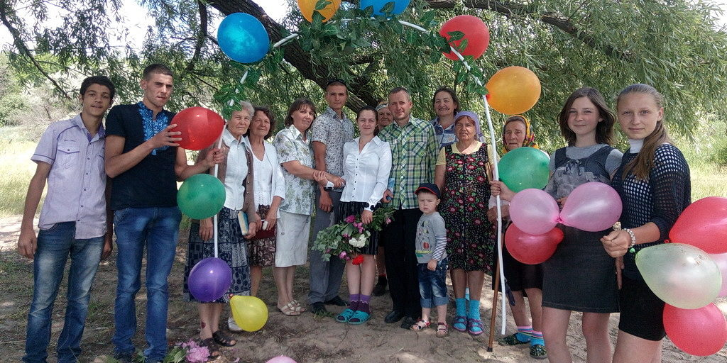 После крещения в Николаевке