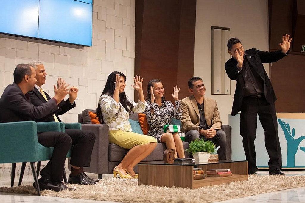Организаторы и гости Evangelibras 2017 года. Четырехдневная программа снималась вживую. [Фото: Густаво Лейтон]