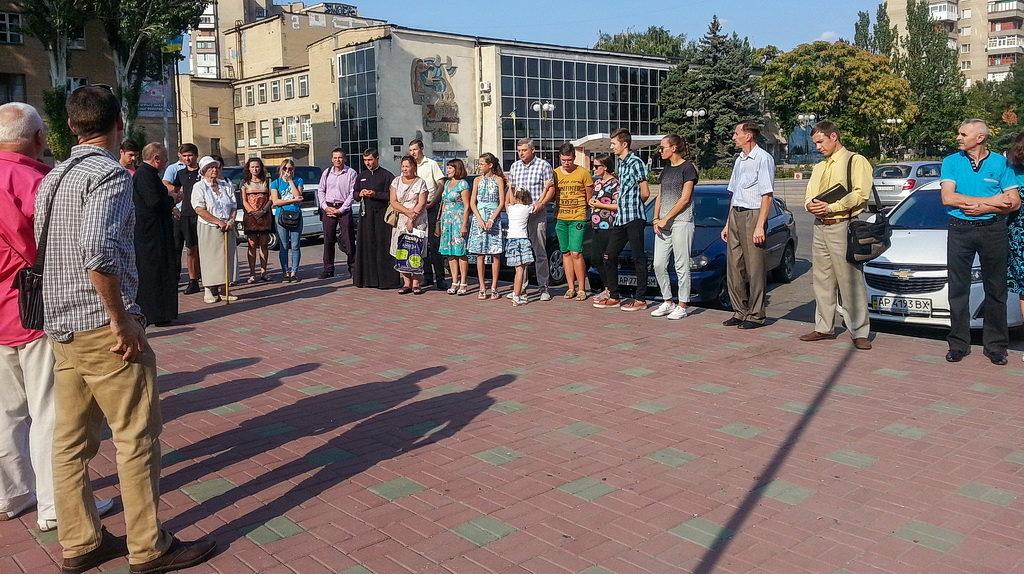 Христиане Мелитополя объединились в молитве за Украину