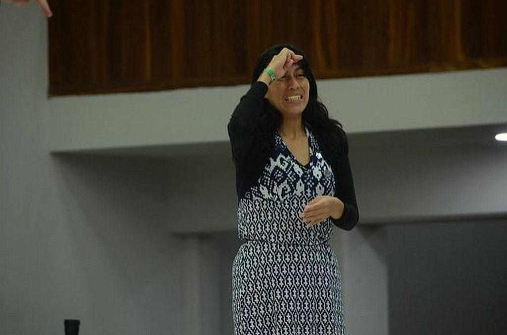 Моника Вера из Университета Монтеморелос во время мероприятия. [Фото: Университет Монтеморелос]