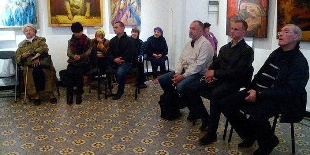 Гости из Горяновского дома милосердия для инвалидов в Днепровском историческом музее
