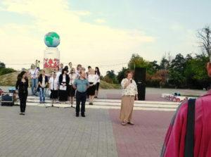 Встреча автопробега в Никополе
