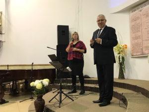 Павел Шимек с переводчицей Натальей Опариной
