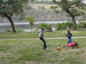 Футбол на природе