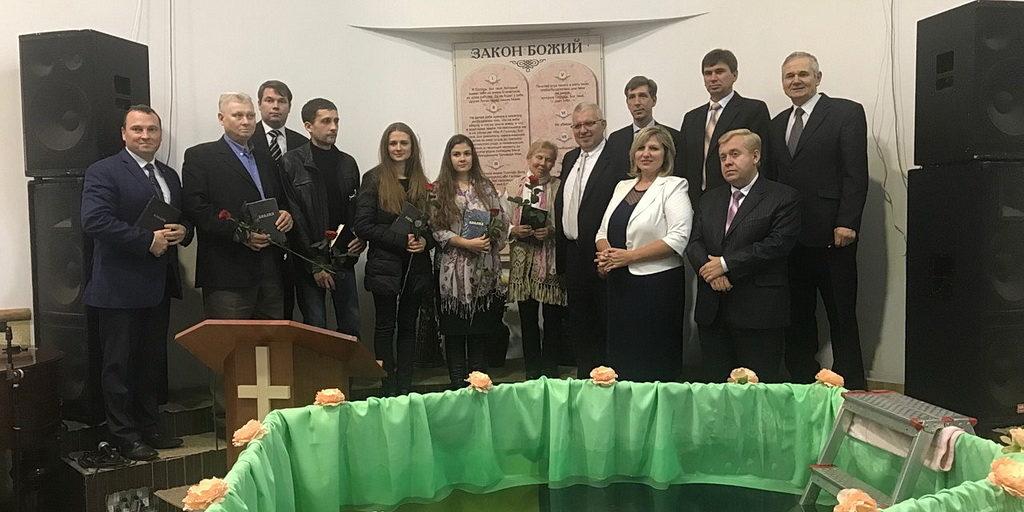 Крещением закончилась программа Павла Шимека в Харькове