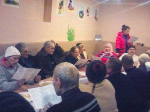 Обуховская церковь собралась вместе для общения