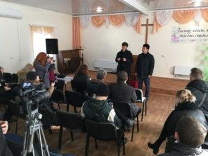 В Мелитополе журналисты и представители городских властей посетили церкви города