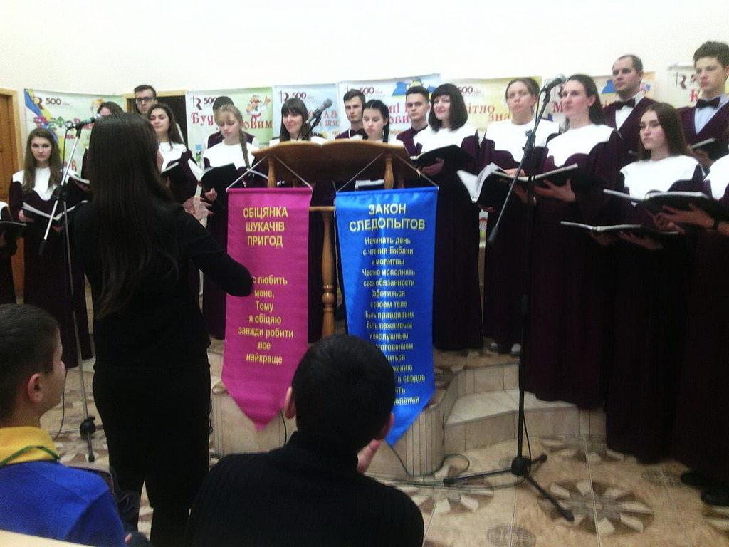 Выступление хора Адвентус
