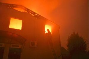 Пожар в принадлежащем церкви здании
