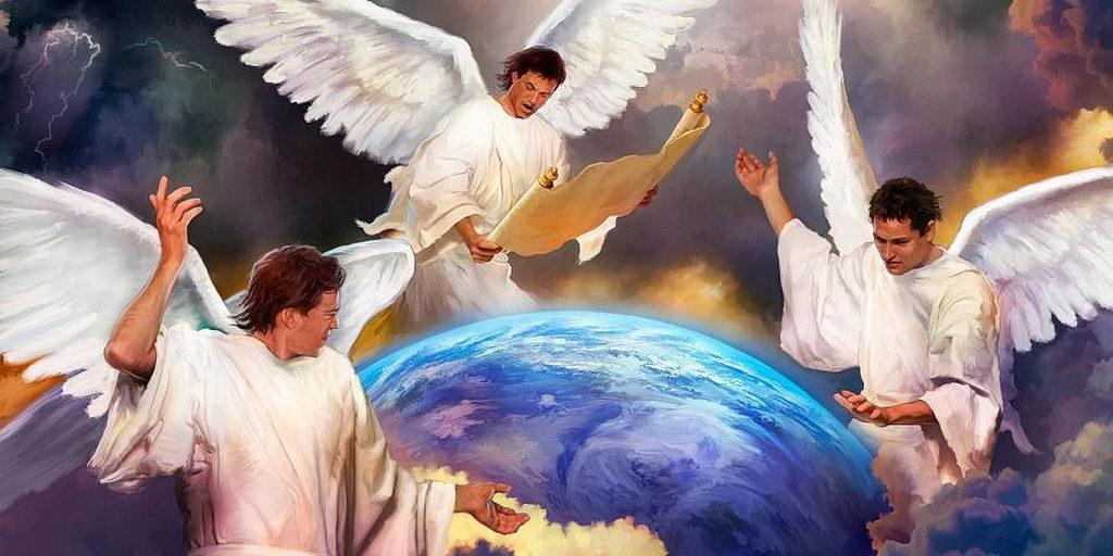 Трехангельская весть. https://amaravilhosaesperanca.blogspot.com/2011/08/os-anjos-de-deus.html