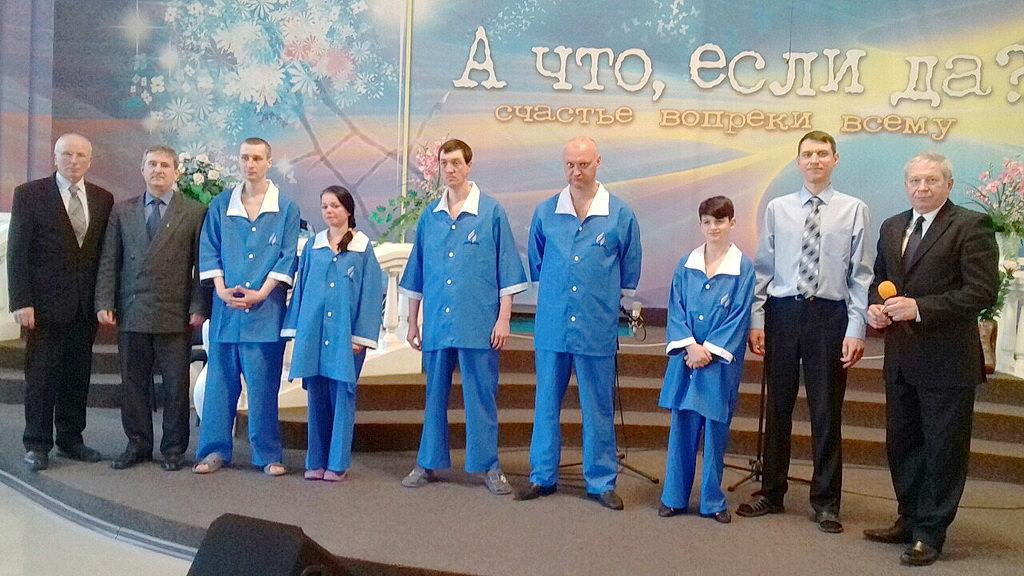 В субботу в Кривом Роге крестились еще пять человек