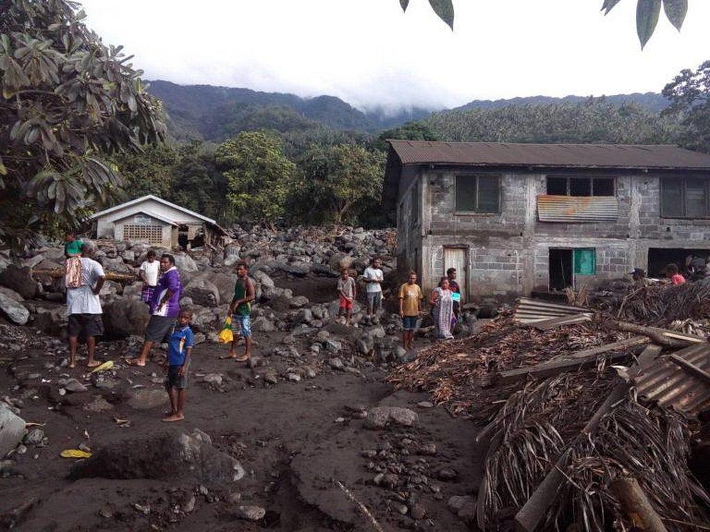 Большая часть деревни была полностью разрушена. [Фото: Adventist Record]