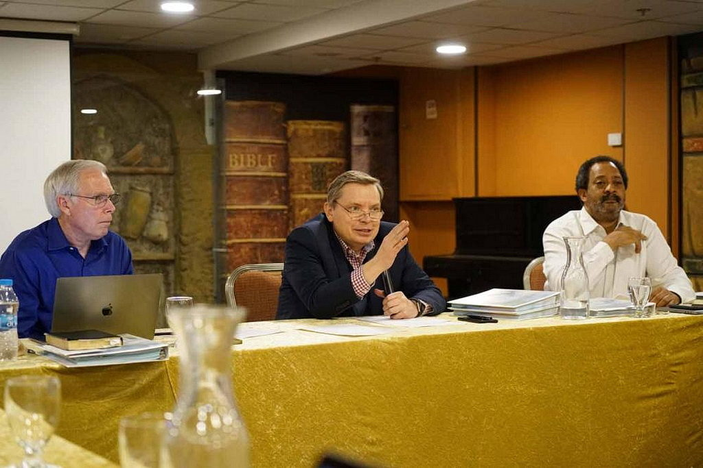 Слева направо: Курт Джонсон, Артур Штеле, Рамон Канальс. [Фото: Виктор Халберт, Новости Транс-Европейского дивизиона]